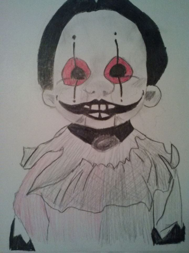 Creepy Doll Drawing by xXanimetenshiXx on DeviantArt