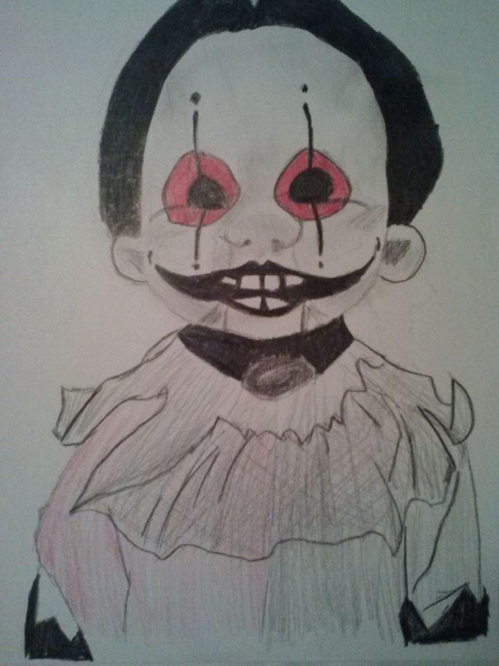 Creepy Doll Drawing by xXanimetenshiXx on DeviantArt