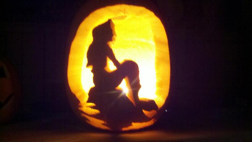 Little mermaid printable pumpkin stencil imgkid