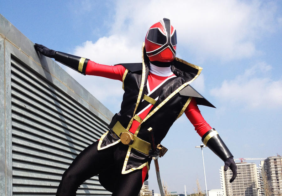 Evil Red Ranger - Gedou Shinkenred Cosplay III by SilviaArts