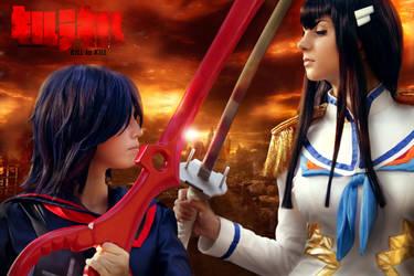 Ryuko VS Satsuki by SilviaArts