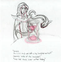 Mozenrath Confused by Hourglass Sketch by AsjJohnson