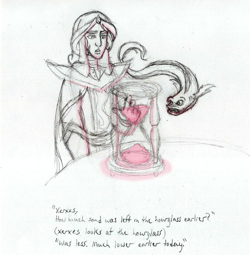 Broken Hourglass Sketch