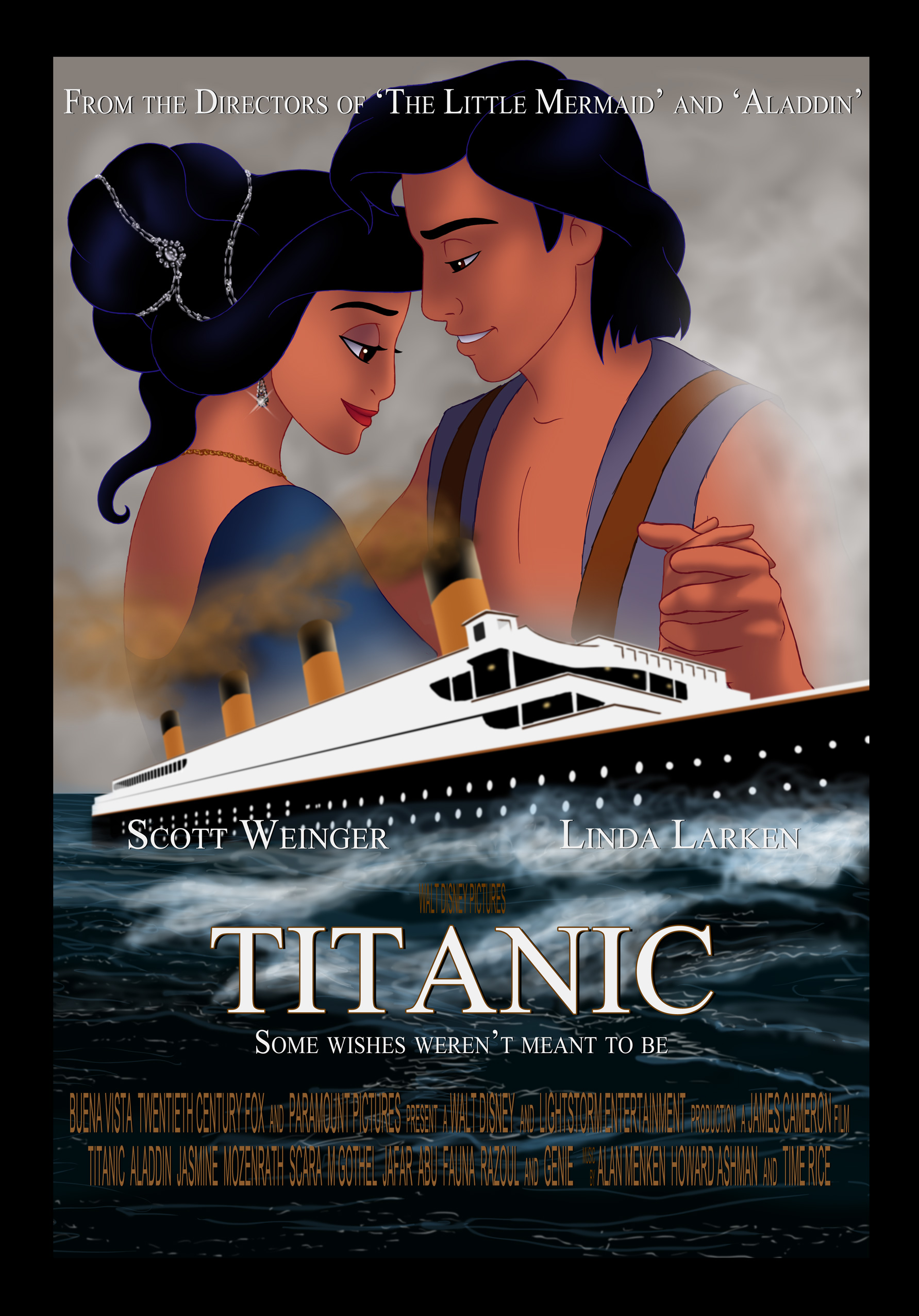 aladdintitanic poster by asjjohnson on deviantart