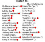 Bands I listen to