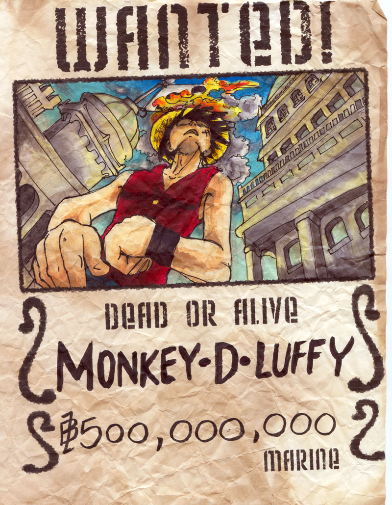 Wanted luffy by bootleg inc on deviantart - One piece wanted luffy ...