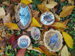 Wood slices painting