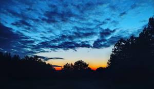 Sunset on Balaton lake