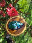 NatureArtJulia-Green rose chafer