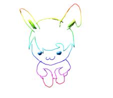 Rainbow Bunni Chibi by MoonlitDreamer13