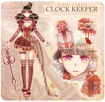 [CLOSED] Clock Keeper Adoptable AUCTION #7 by Black-Quose