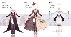 [CLOSED] Fantasy Outfit Adopts | Auction