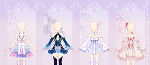 [closed] Fantasy Outfit Adopts #36   set price