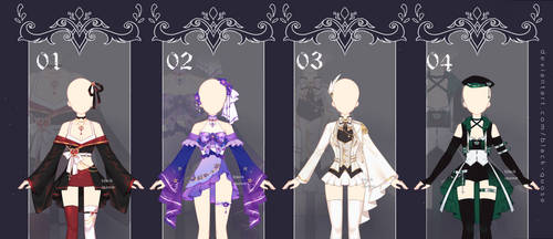 [OPEN] Fantasy Outfit Adopts #37   set price