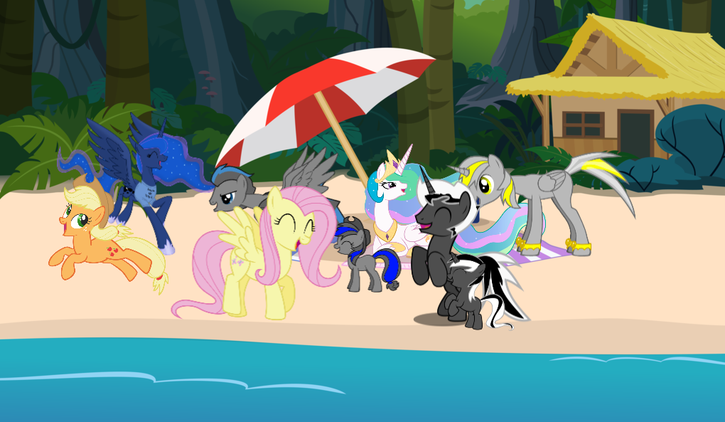 a upper class day at the beach by Shadowblazer3