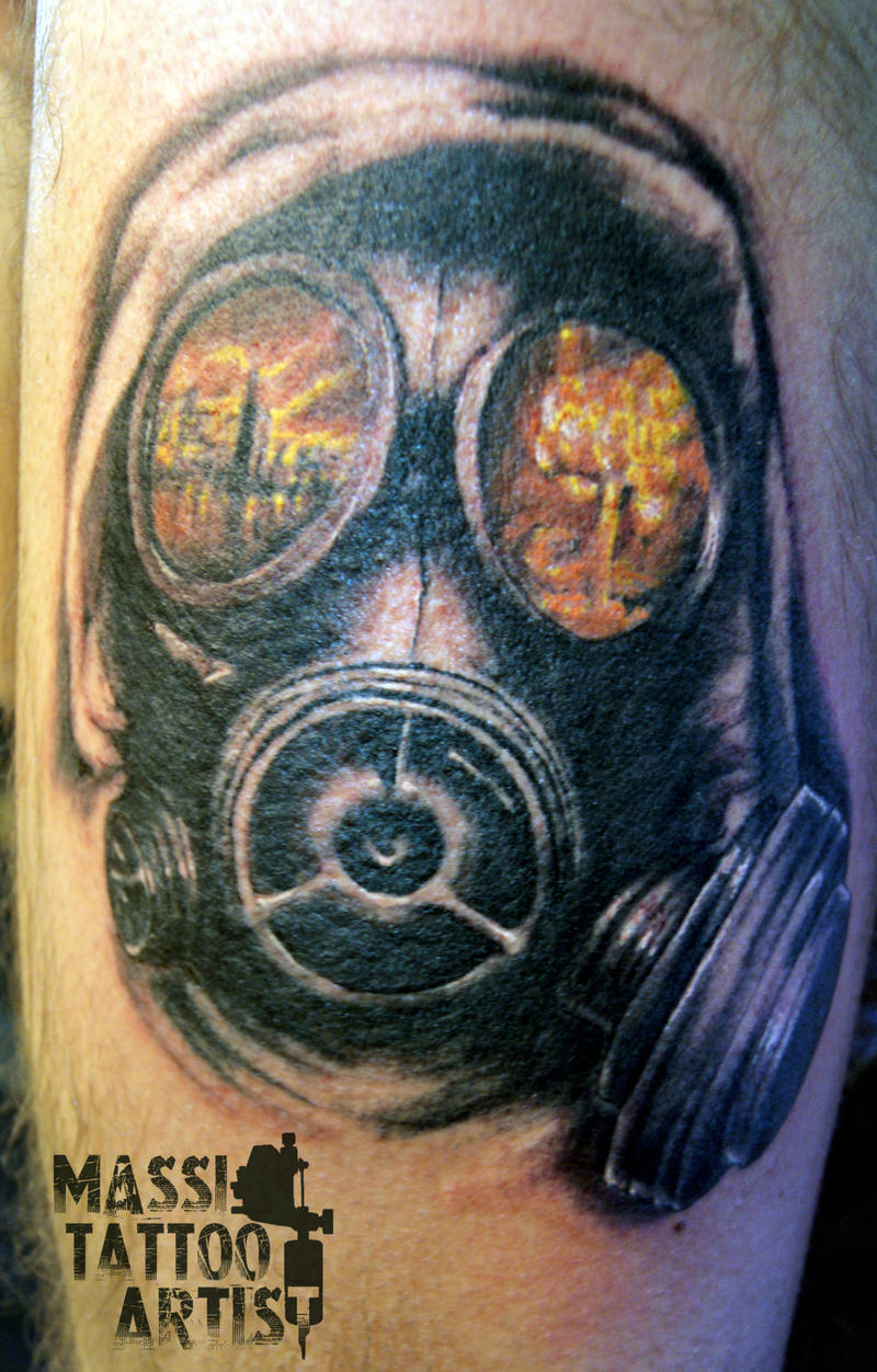 44 best gas mask tattoos collection - Gasmask