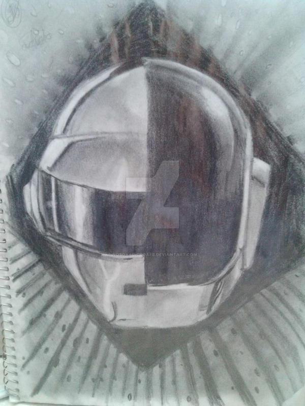 daft punk pencil drawing by nosoyadictoafb on deviantart