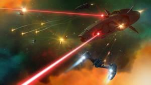 Space battle concept.
