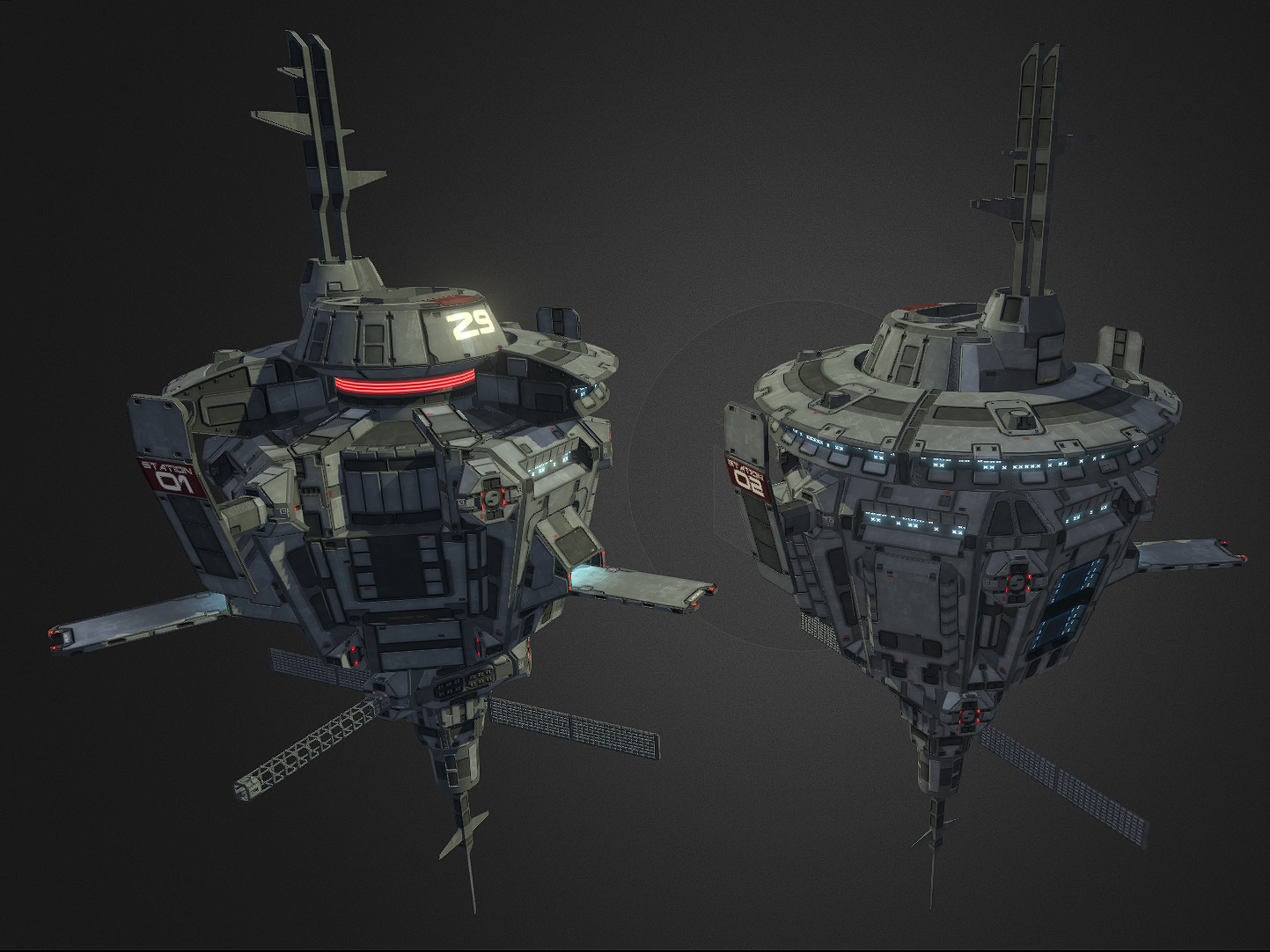 Space Station LOWPOLY by NovA29R on DeviantArt