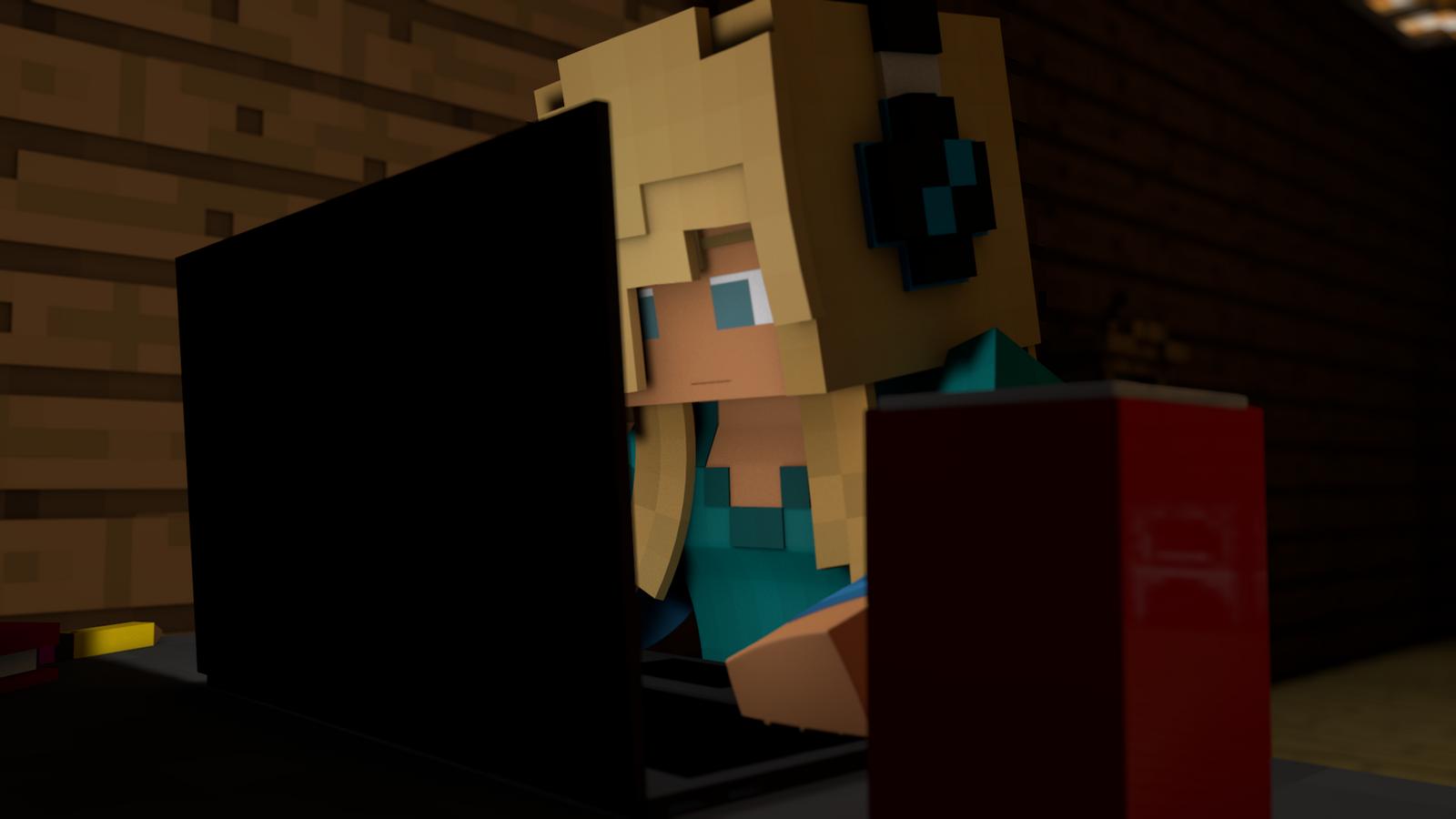 gamer girl minecraft by carro1001 on deviantart