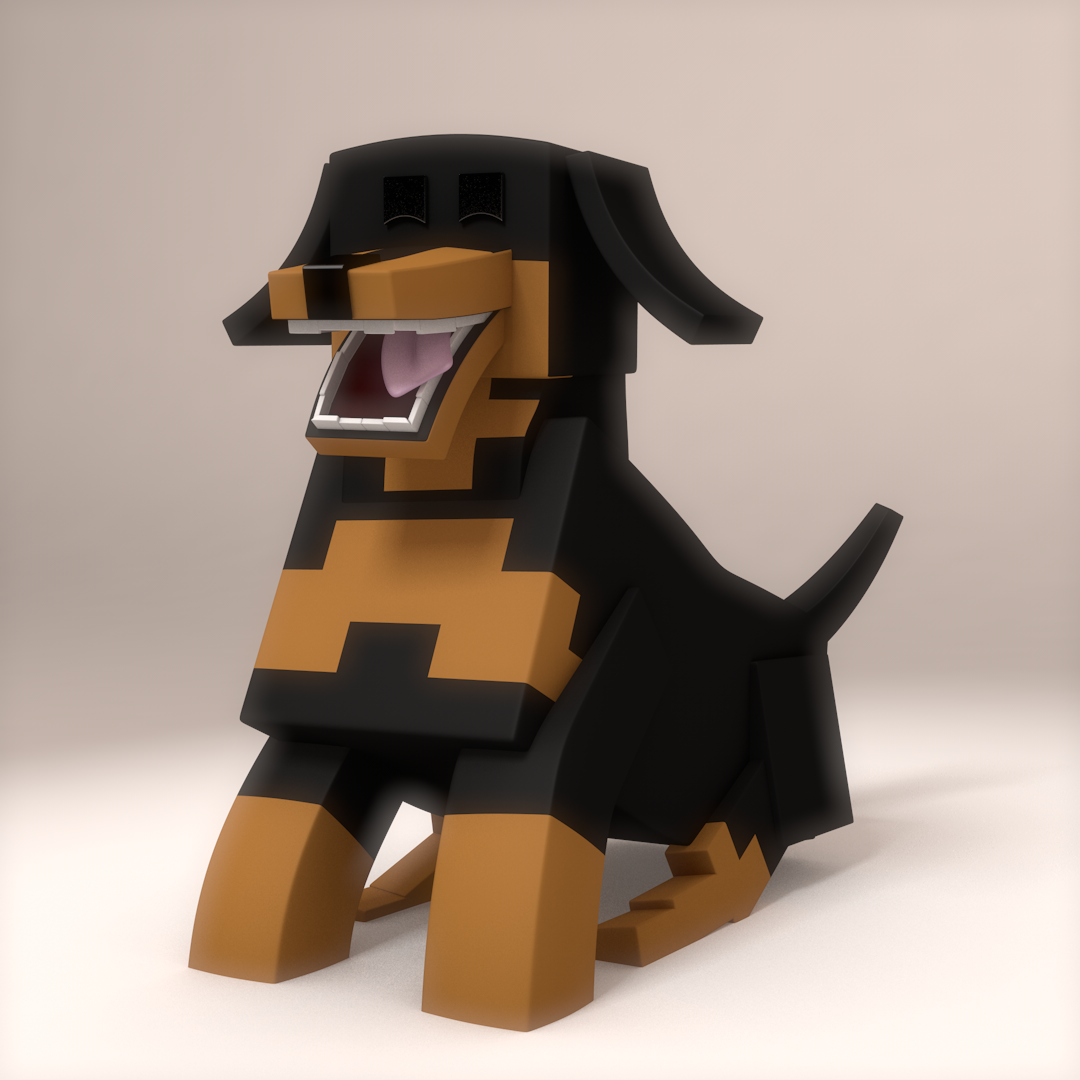 Собаки в майнкрафте картинки