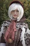 2b from Nier Automata as Plain Doll - Bloodborne
