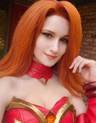 Lina Dota 2 Cosplay by ClaireSea