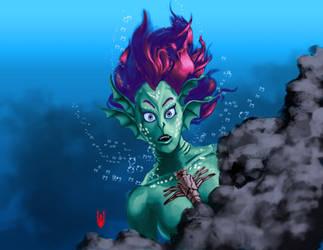 Surprised Mermaid by Cyberborg