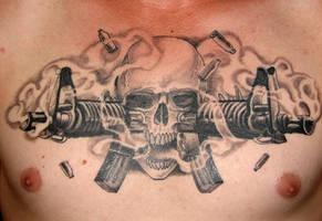 m16 skull by pisopez
