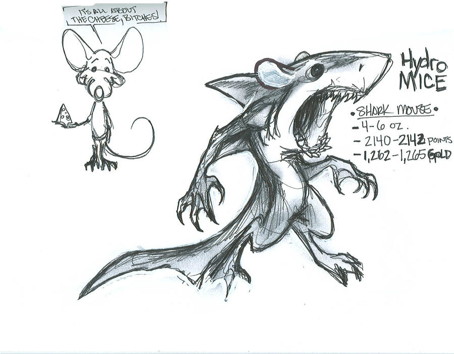 Shark mouse concept sketch by pisopez