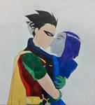 Kiss me - Raven/Robin