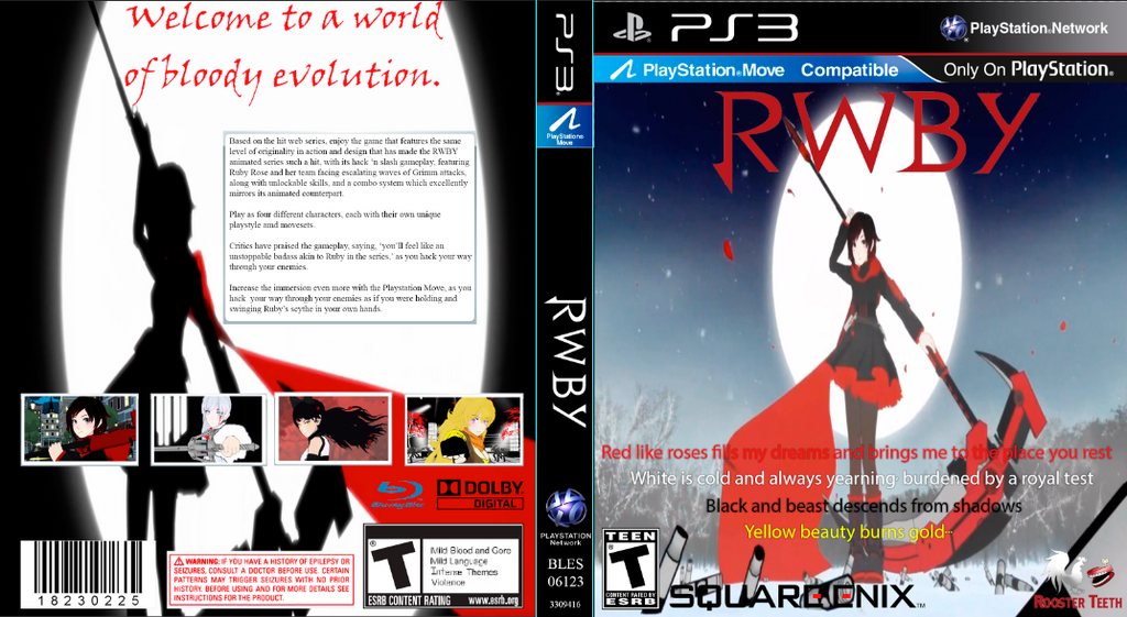 rwby game cover by xolcm on deviantart