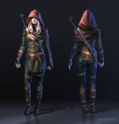 The Witcher 3: Ciri FanArt by wwysocki