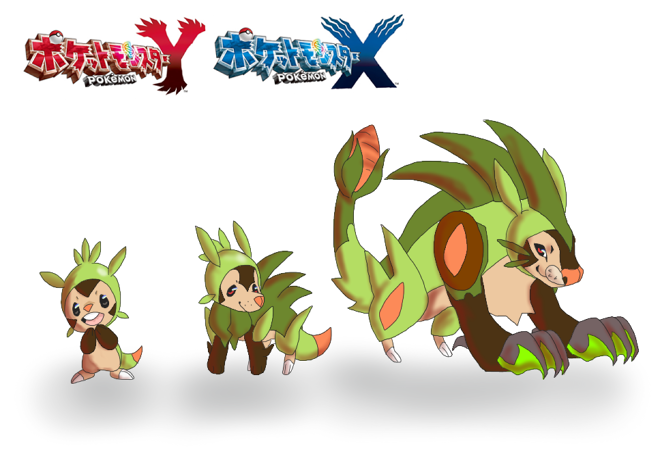 Chespin Fake-Olutions by karebuu on DeviantArt