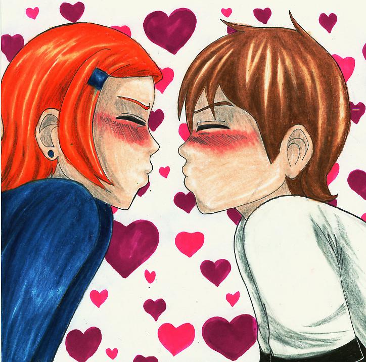 just a little kiss by kikikun on deviantart