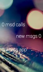 Minimal Text Lockscreen