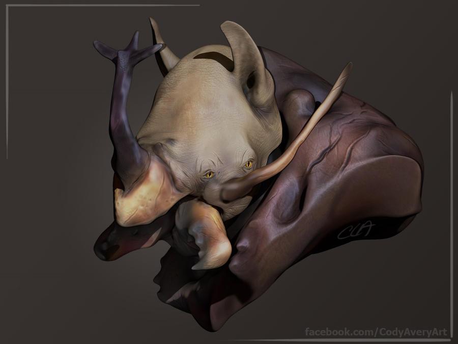 Rhinoceros Beetle Rhino Render by Cryoprime
