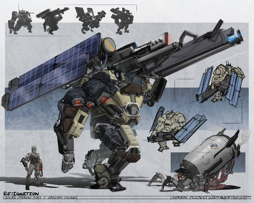 Solar Cannon Boss Mech + Gascan Drone |Re:Ignition