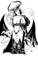 Tarot ink by madman1
