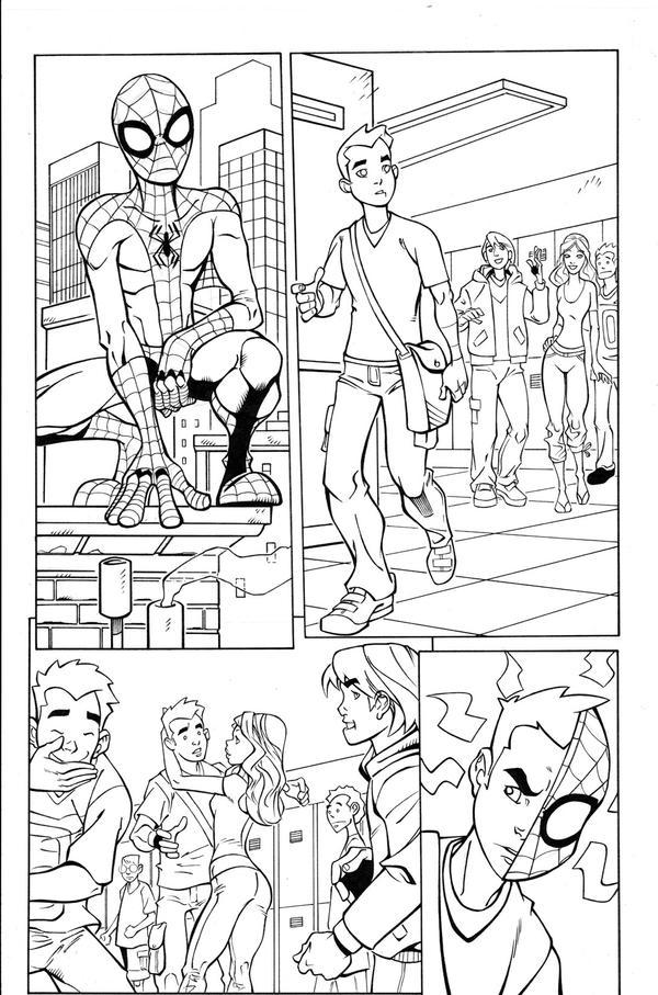 Spidey,TT pg3 inks by madman1
