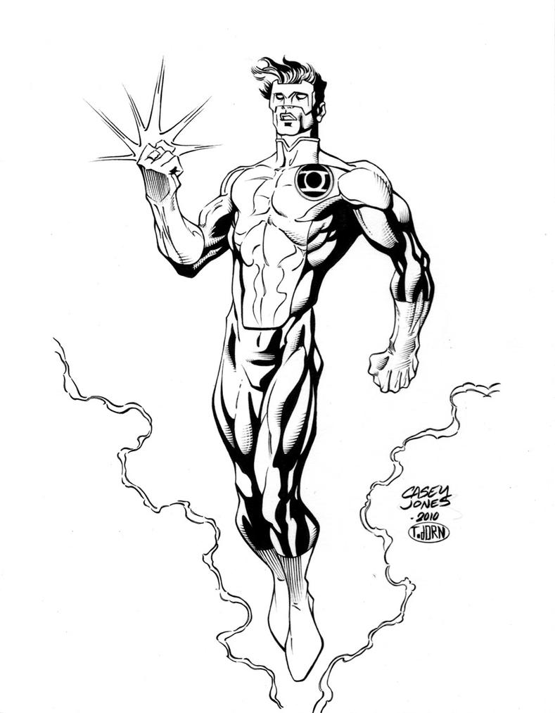 Drawing Red Lines With Green Ink : Jones green lantern inks by madman on deviantart