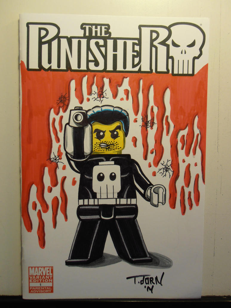 Projeck Brick Sketch cover Punisher by madman1