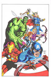 Hunt Avengers colors by madman1