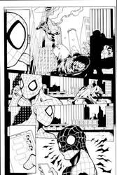 Spidey pg3 Sample inks by madman1