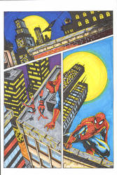 Spidey Cat 1 color by madman1