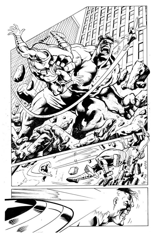 Avengers Pg2 Sample inks by madman1