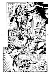 Avengers Pg1 Sample inks by madman1