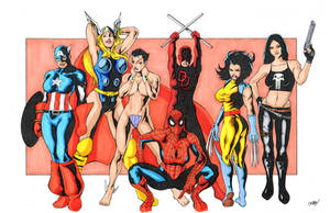Girls of Marvel colors