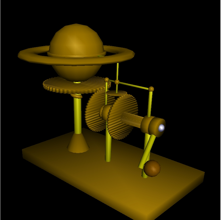 Steampunk Saturn Model by arch-angel-azrael