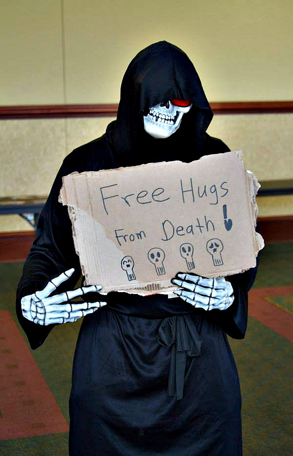 Free hugs from Death!! by CrazyHarrison